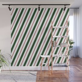 Peppermint Candy Cane Wall Mural