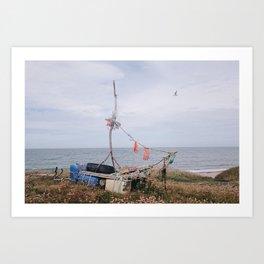 boat in audresselles Art Print