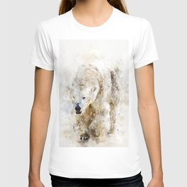 Abstract watercolor polar bear T-shirt