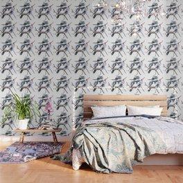 Belted Kingfisher, Gray design, Gray shades, Bird art Wallpaper