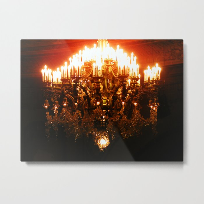 Curran Theatre Chandelier Metal Print