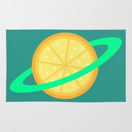 Planet Fruit: Orange | pulps of wood Rug