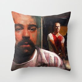 Escape From Sodom - Butch And Zed - Pulp Fiction Throw Pillow