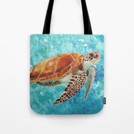 Turtle Swimming Tote Bag