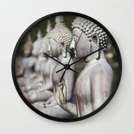 Buddha Statues, Sri Lanka Wall Clock