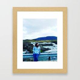 Girl on the road Framed Art Print