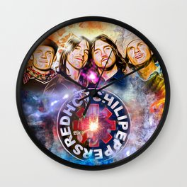 The Chili Peppers Painted Wall Clock