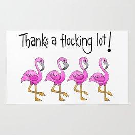 Flamingo Flock Rug