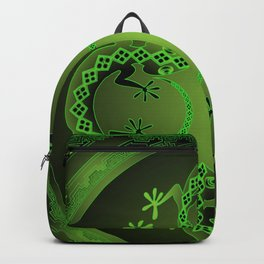 Vintage Green Gecko Backpack