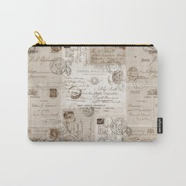 Old Letters Vintage Collage Carry-All Pouch