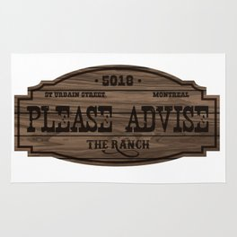 The Ranch Sign Rug