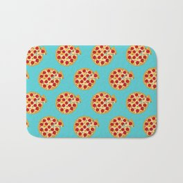 Fun salami pizza pie pattern Bath Mat