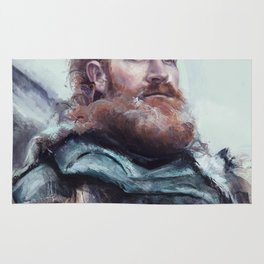 We are kissed by fire. Rug