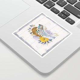 NestingPaintedBird Sticker