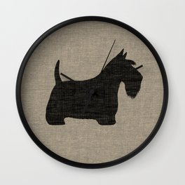 Scottish Terrier Scottie Silhouette Wall Clock