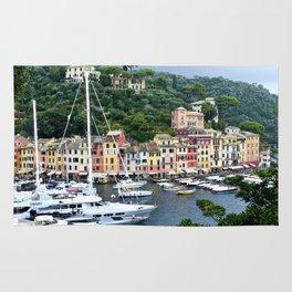 Portofino Harbour Italy Rug