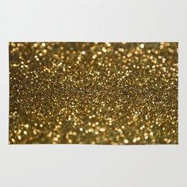 Gold Sparkle Pattern Rug