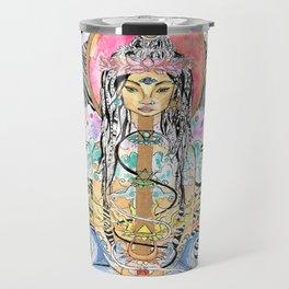 Elemental Goddess Watercolor Painting Travel Mug