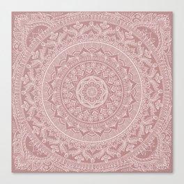 Mandala - Powder pink Canvas Print
