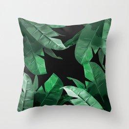 Tropical Palm Print #3 Throw Pillow
