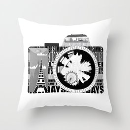 camera - holiday snaps Throw Pillow