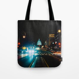 View of US Capitol Building from North Capitol Street Tote Bag