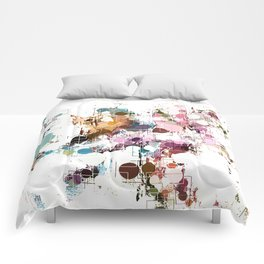 Decorative Subdued Pastel Pattern Abstract Comforters