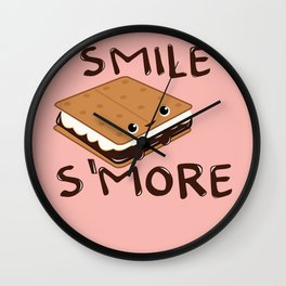Smile S'more Wall Clock
