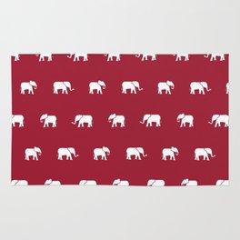 Crimson Elephants Rug