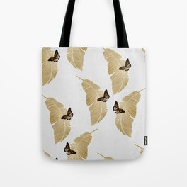 Butterfly & Palm Tote Bag