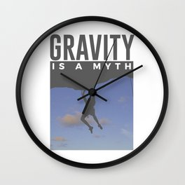 Gravity Is A Myth Rock Wall Climbing Wall Clock