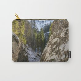 Winter and spring valley and mountains Carry-All Pouch