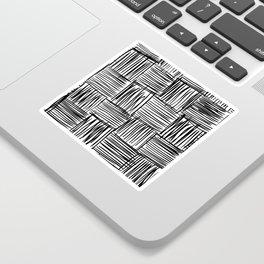 Modern Square Black on White Sticker
