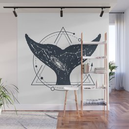 Tail Of A Whale. Geometric Style Wall Mural