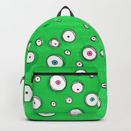 All Eyes on You - Green Backpack
