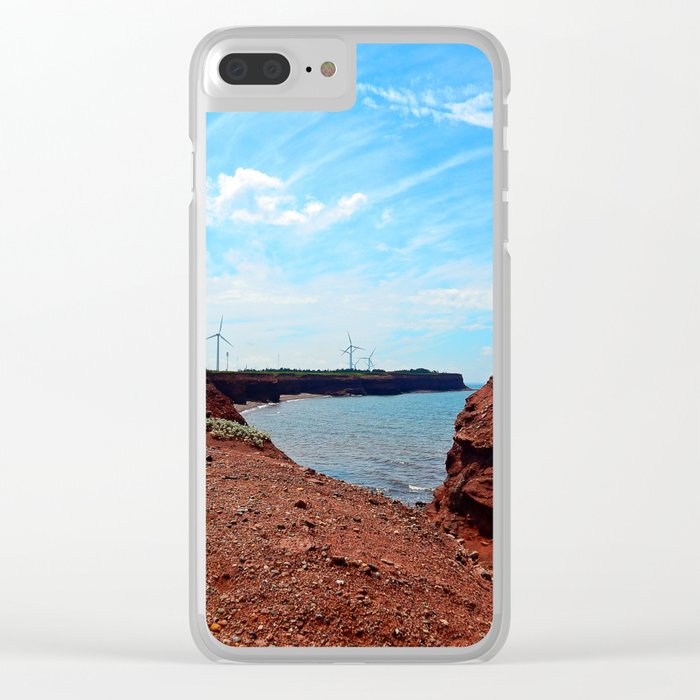 Cliffside Wind Turbines Clear iPhone Case