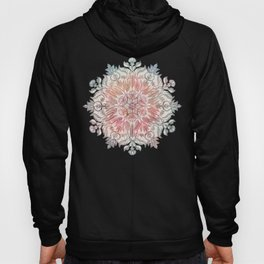 Autumn Spice Mandala in Coral, Cream and Rose Hoody