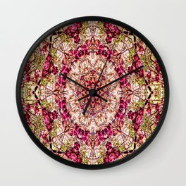 The Red Bud Mandala... Wall Clock