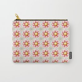 Pink Daisy Boho Chic Carry-All Pouch