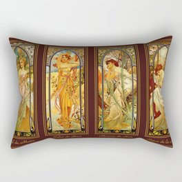 Vintage Art Nouveau - Alphonse Mucha Rectangular Pillow