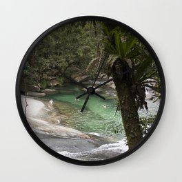 Tropical Lagoon Wall Clock