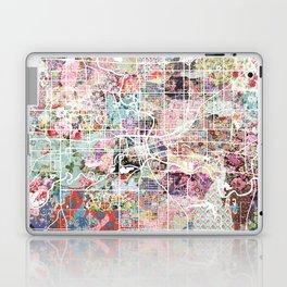Des Moines map Laptop & iPad Skin