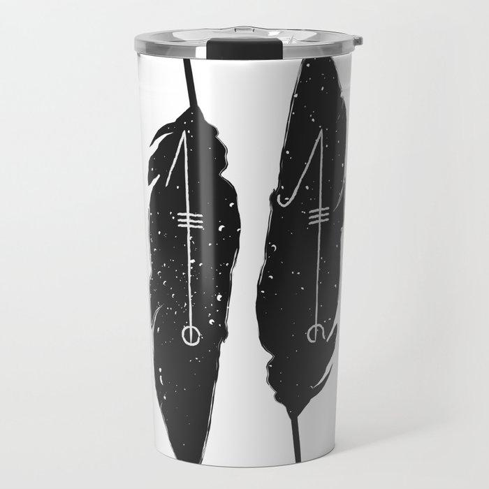 Svefnthorn rune feather design Travel Mug