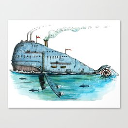 Steamboat Whale Canvas Print