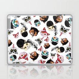 Pop Cats - Pattern on White Laptop & iPad Skin