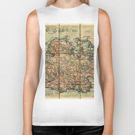 Map Of Antigua 1779 Biker Tank