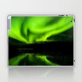 aurora borealis northern lights sky Laptop & iPad Skin
