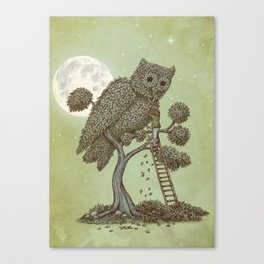 The Night Gardener (Colour Option) Canvas Print