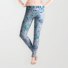 UNICORN DAYDREAMS Mythical Watercolor Tapestry Leggings