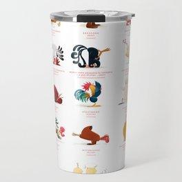 Chicken Yoga Travel Mug